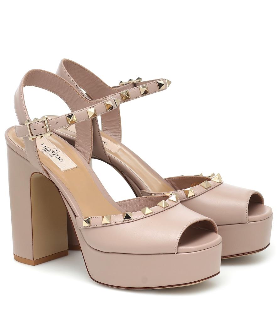 Valentino Garavani Rockstud leather platform sandals