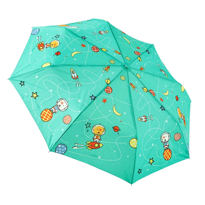 Rainstory - 抗UV個人加大自動傘-火箭狗狗(青)-自動開收傘