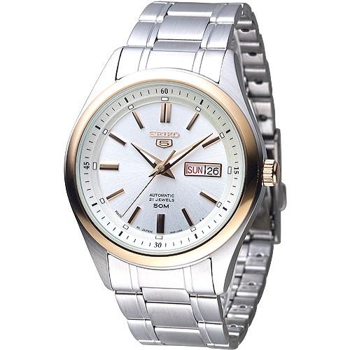 SEIKO精工機械錶 SNKN90J1 完美情人自動機械男錶-金框金刻 日本製 廠商直送 現貨