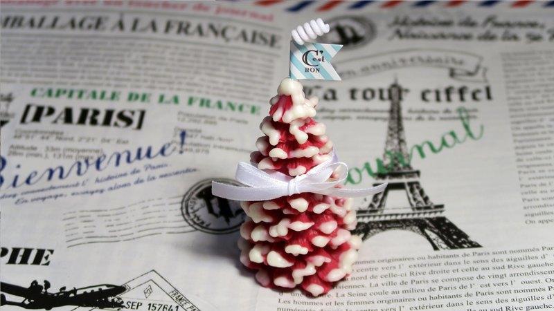 暖心聖誕禮物・繽紛雪花聖誕樹造型香氛蠟燭/顏色香氛可客製