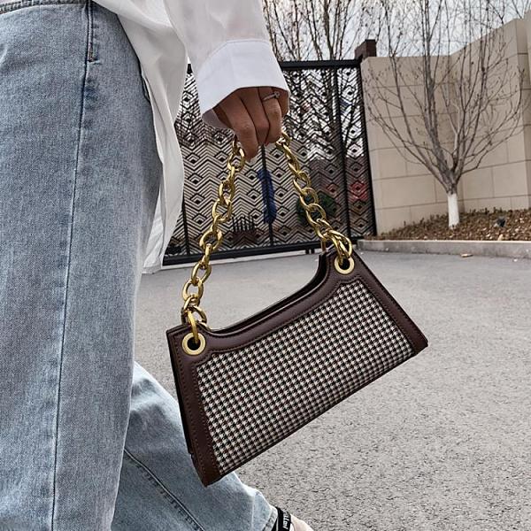 法國小眾包包女2021流行新款潮韓版網紅質感手提鏈條包單肩腋下包 8號店