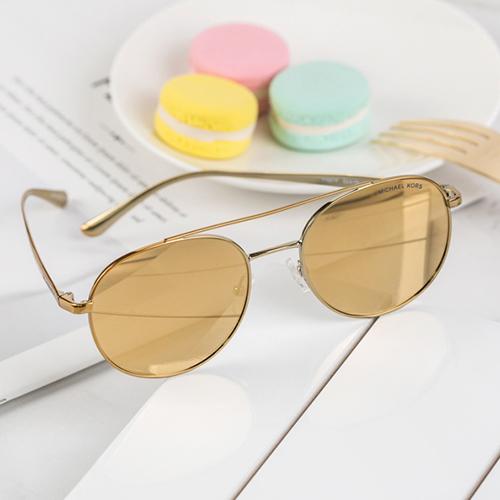 MK Michael Kors 黃色水銀鏡片 金色太陽眼鏡 墨鏡 MK1021-11687P-53 熱賣中!