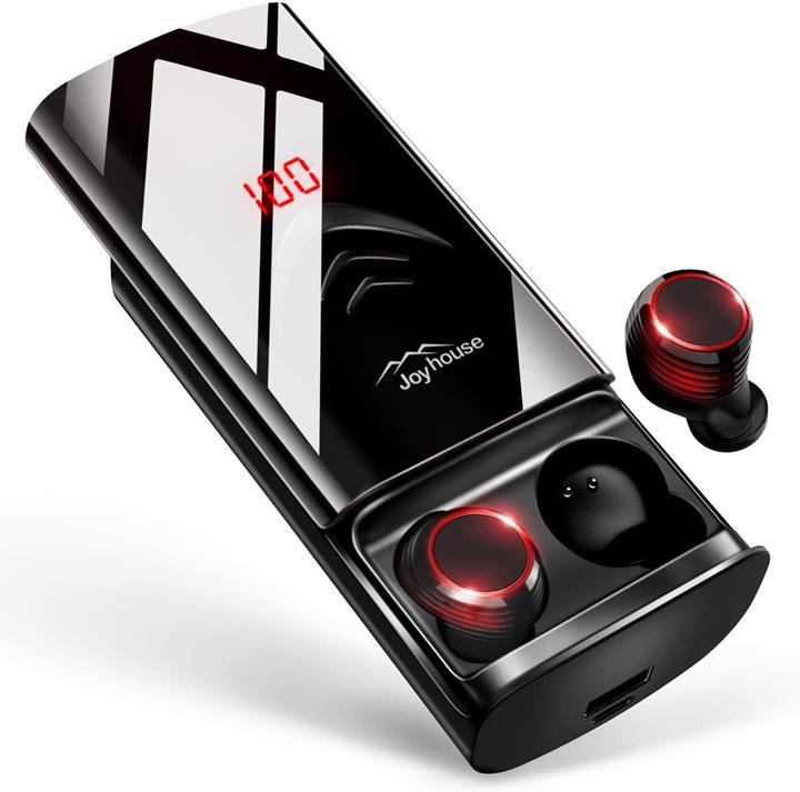 【日本代購】 Bluetooth 耳機 高音質Bluetooth5.0 完全無線耳機自動配對 革新滑動設計&260小時播放黑色