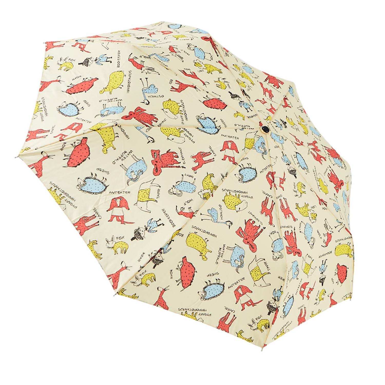 Rainstory - 抗UV個人加大自動傘-幻想動物園(米)-自動開收傘