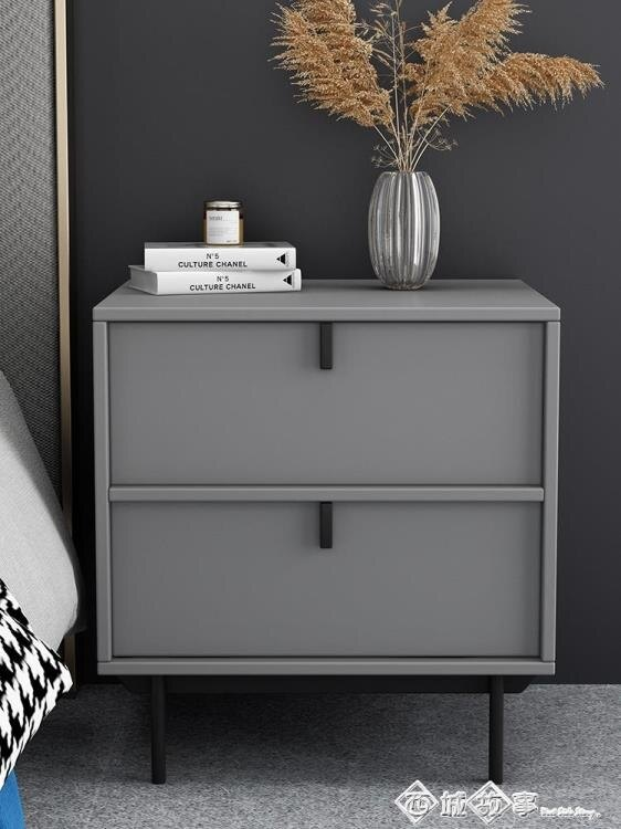 床頭櫃簡約現代輕奢臥室置物迷你小型床邊小櫃子儲物櫃北歐風ins