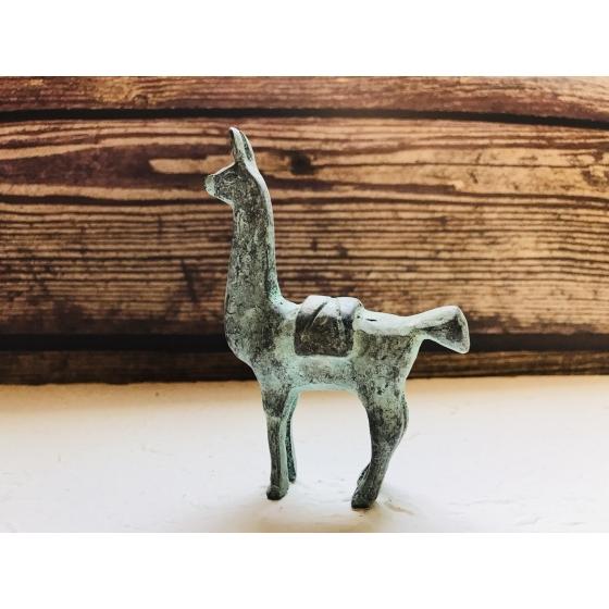 仿古羊駝青銅擺飾