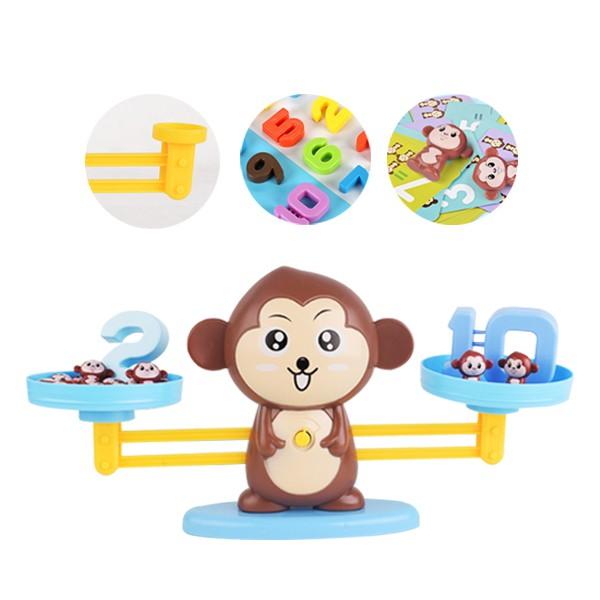 數字猴子天秤遊戲組 教學玩具 天平玩具 算數 砝碼 益智玩具 雪倫小舖【RYB03】
