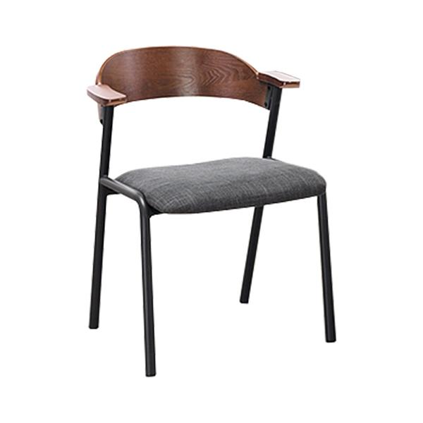 淺胡桃造型餐椅(21HY2/B421-05)/H&D東稻家居