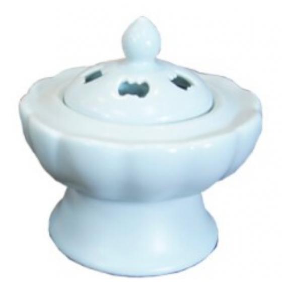 蓮花爐 搭配樹脂聖木屑超好用 汝窯色