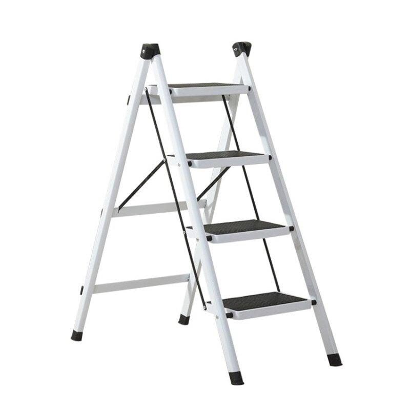喜折疊四步梯踏板梯子折疊梯登高人字梯鐵梯雙十一