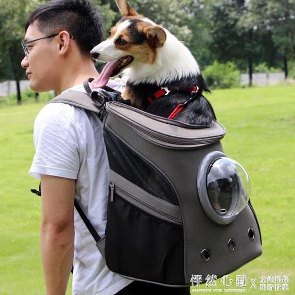 太空喵寵物艙背包貓包雙肩狗書包20斤柯基法斗背狗包外出便攜大號-完美
