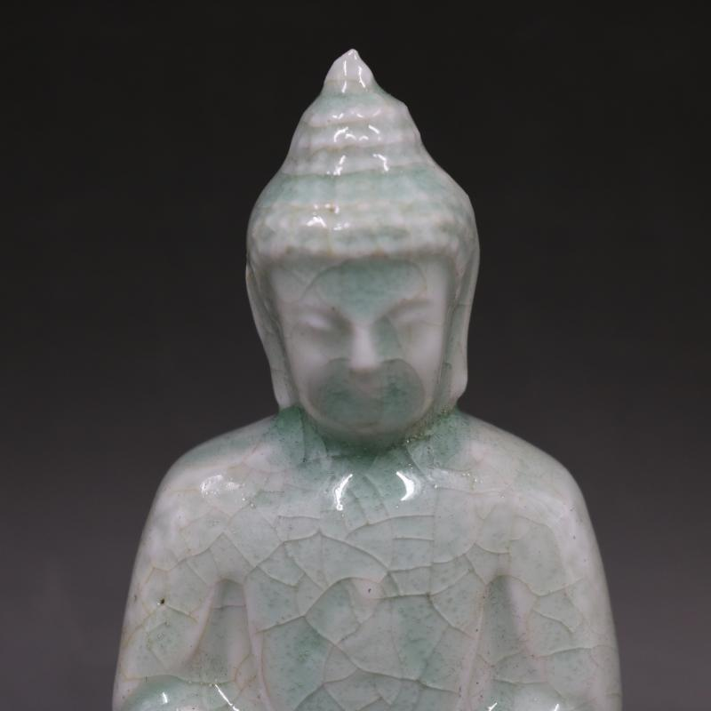 宋湖田窯白釉雕刻如來佛像仿古老貨包老瓷器家居擺件古董古玩收藏1入