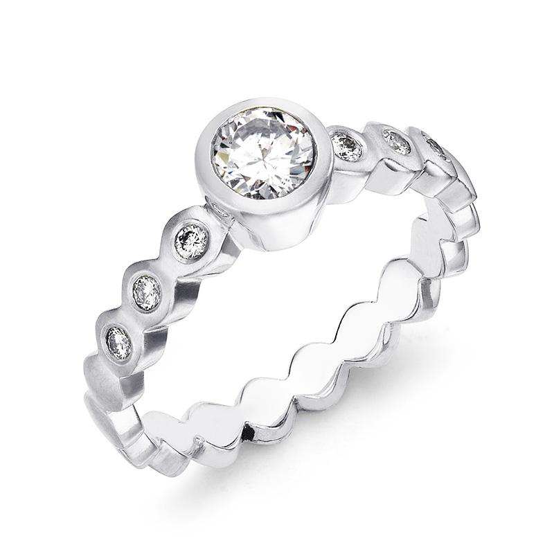 Dotty Engagement Ring - 0.40CT