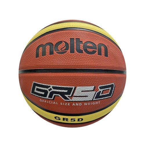 Molten [BGR5D-YBW] 籃球 5號 兒童 室外 小學 彈力 耐用 橡膠 深溝 12片貼 棕黃