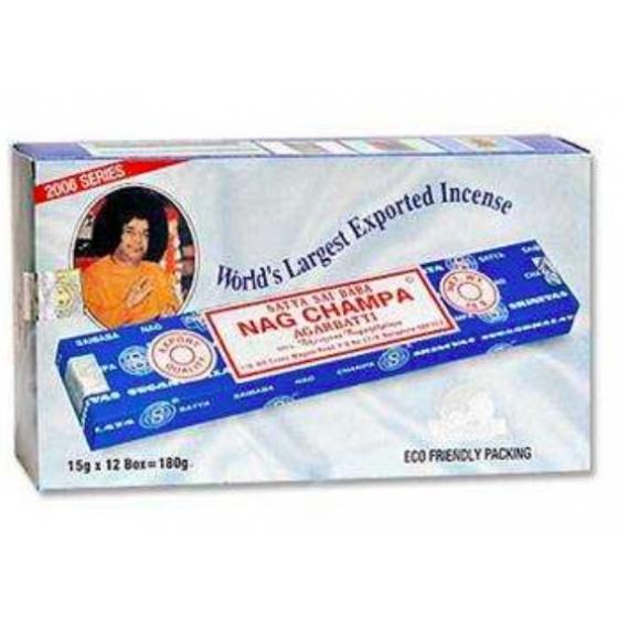 賽巴巴 賽巴巴線香一大盒 內有12小盒15g SATYA SAI BABA Nag Champa