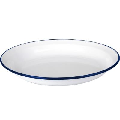 《IBILI》琺瑯深餐盤(藍23cm)