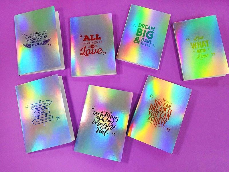  有現貨  勵志小語 Notebook 七款鼓勵人心的話語 贈花花書籤