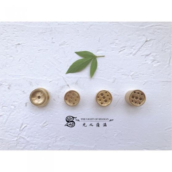 迷你系列 創意日式水滴香器-銅九孔香插 中大尺寸
