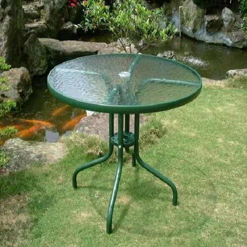 80cm圓型玻璃庭院桌