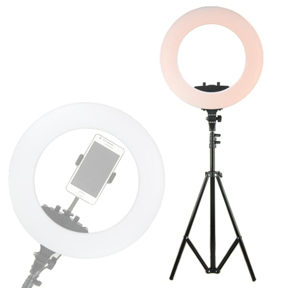 18吋環形補光燈 (含燈架) 環燈加寬版 適用多種環境完美補光 燈架高度可達200公分 加寬版光線排列更均勻