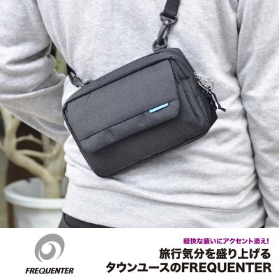 藍色現貨配送【FREQUENTER】日本防盜包 3WAY斜背包 手拿包 收納包 側背包 安全旅遊包【4-350】