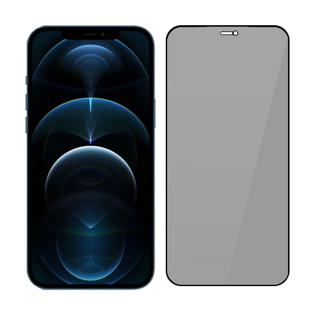 SSTAR iPhone 12 Pro Max(6.7吋) 2.5D 高透防窺鋼化玻璃保護貼-黑色