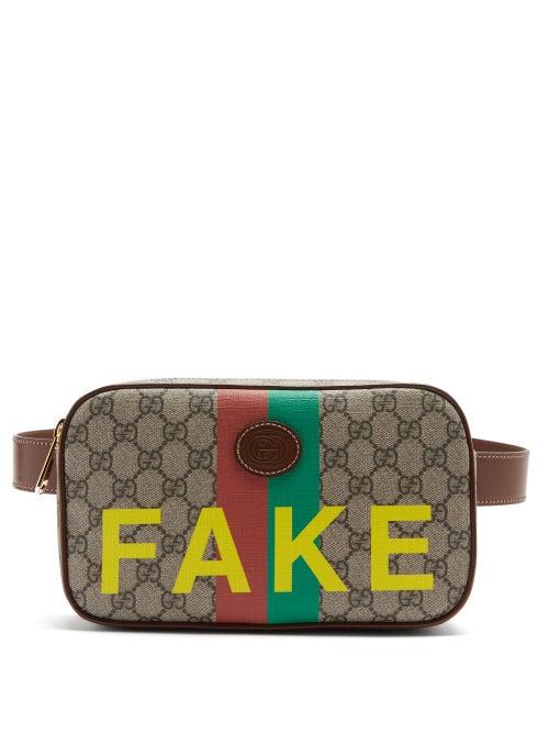 Gucci - Fake/not Gg Supreme Belt Bag - Mens - Brown Multi