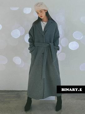 韓國空運 - Belted wool long coat 大衣