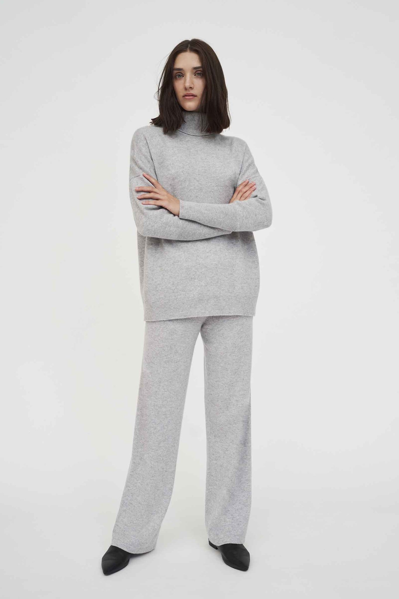 Silver-Grey Cashmere Rollneck Sweater