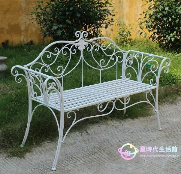 公園椅 歐式雙人椅花園椅鐵藝椅戶外休閑座椅公園長椅條椅庭院椅子 【星時代生活館】jy