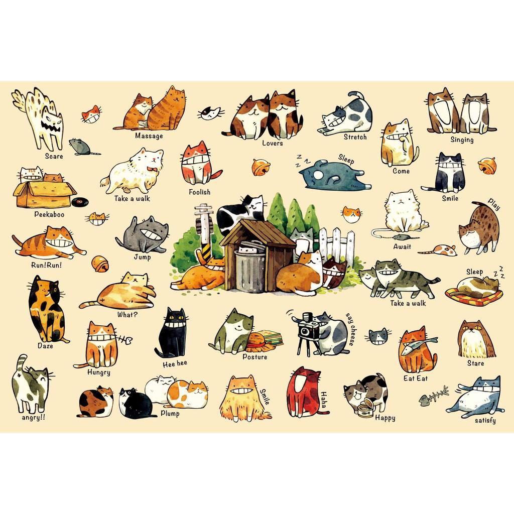 拼圖總動員 貓咪的100種生活I 300P afu 繪畫