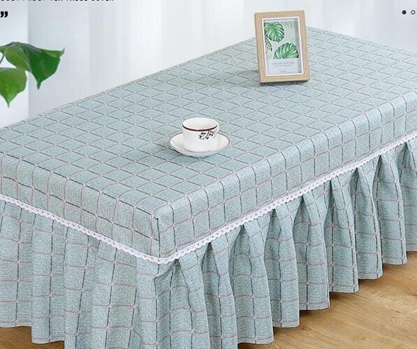 桌巾/餐墊 長方形布藝茶幾桌布家用客廳茶幾罩田園餐桌臺布套電視柜防塵蓋布