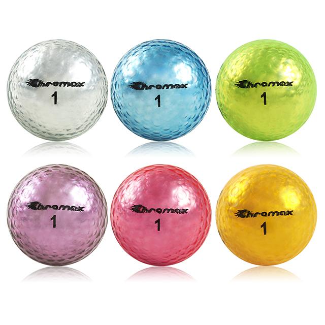 高爾夫金屬球-6球入 (亮金色、亮銀色、亮藍色、亮綠色、亮紫色、亮桃紅)