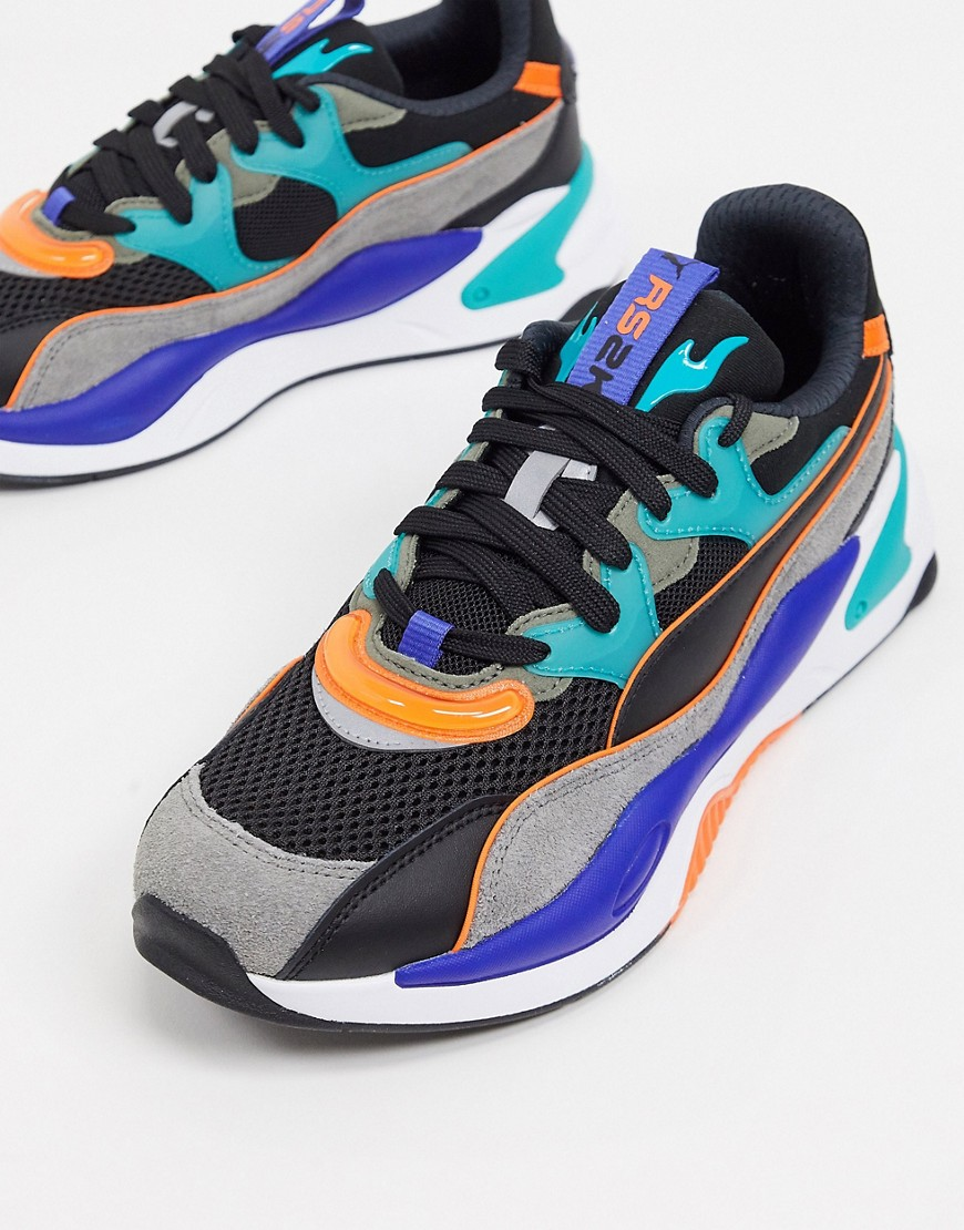 Puma RS-2K trainers in grey and blue
