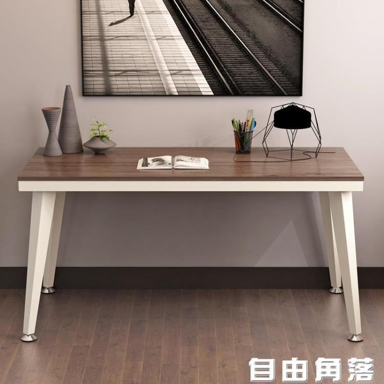 電腦桌臺式桌書桌簡約現代辦公桌家用學生寫字桌宿舍簡易桌子臥室CY  自由角落