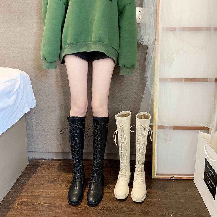 長靴女過膝2020新款秋冬季小個子百搭網紅中筒靴長筒高筒騎士靴子