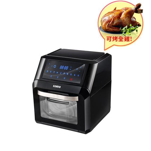 【大容量省時烹飪高手】SAMPO聲寶 10L大容量健康免油全能氣炸烤箱 KZ-PA10B