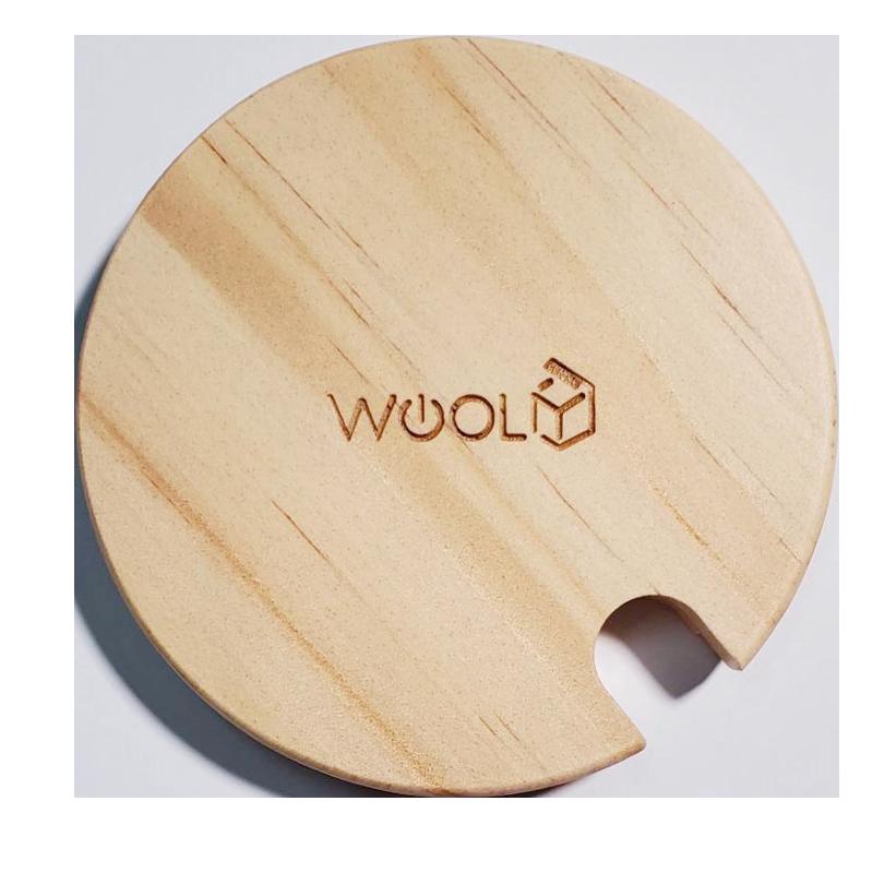 WOOLY專用木質杯蓋(湯匙孔) 直徑約8.5公分