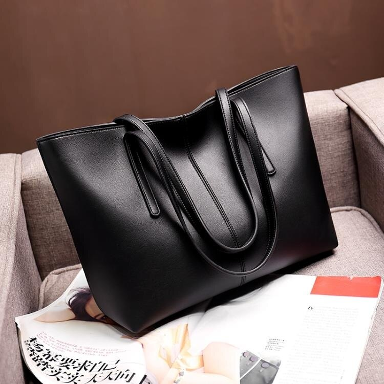 軟皮單肩大包包2020新款潮大容量真皮女包托特包手提挎包女士包包
