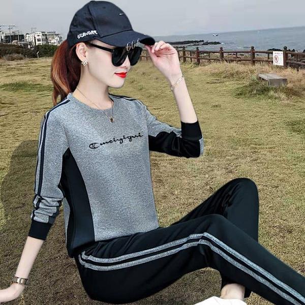 春秋休閒運動服套裝女士衛衣2020年新款時尚潮韓版寬鬆洋氣兩件套 元旦全館免運