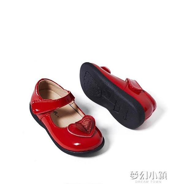 春秋季新款小寶寶公主鞋軟底女童時尚洋氣單鞋兒童鞋子小皮鞋 夢幻小鎮