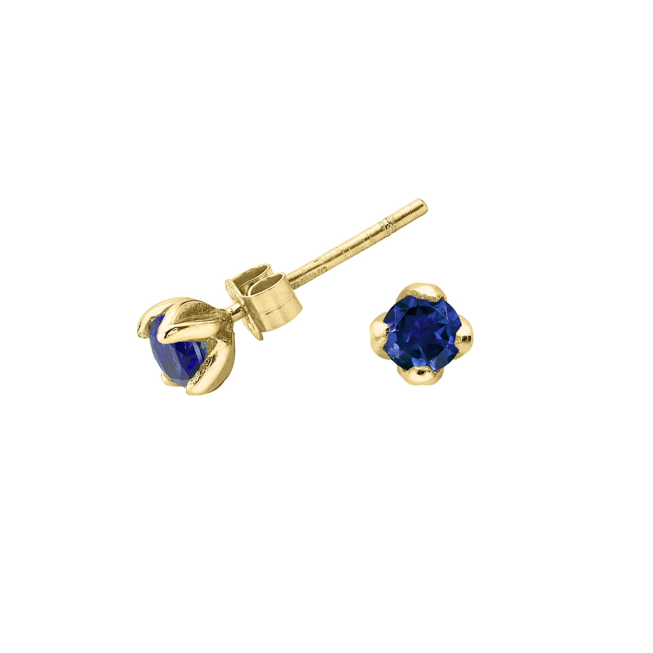 Blue Sapphire Lotus Studs - 0.50CT