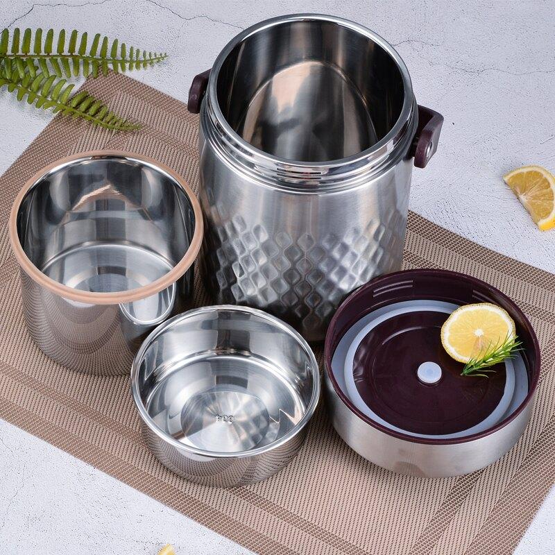 304不銹鋼真空保溫飯盒超長保溫桶12/  免運