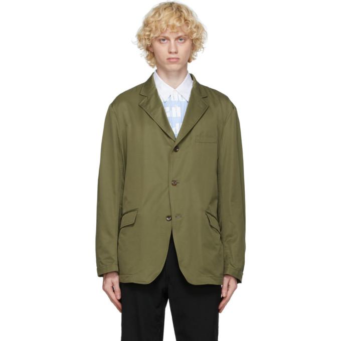 Comme des Garcons Homme 军绿色斜纹西装外套