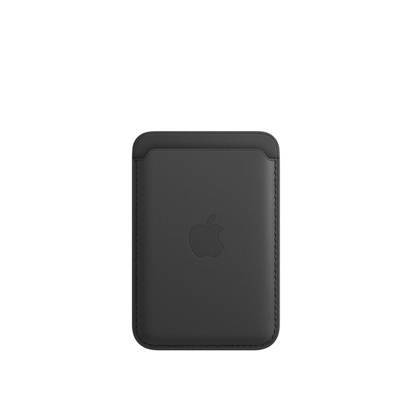 iPhone MagSafe 皮革卡套 - 黑色