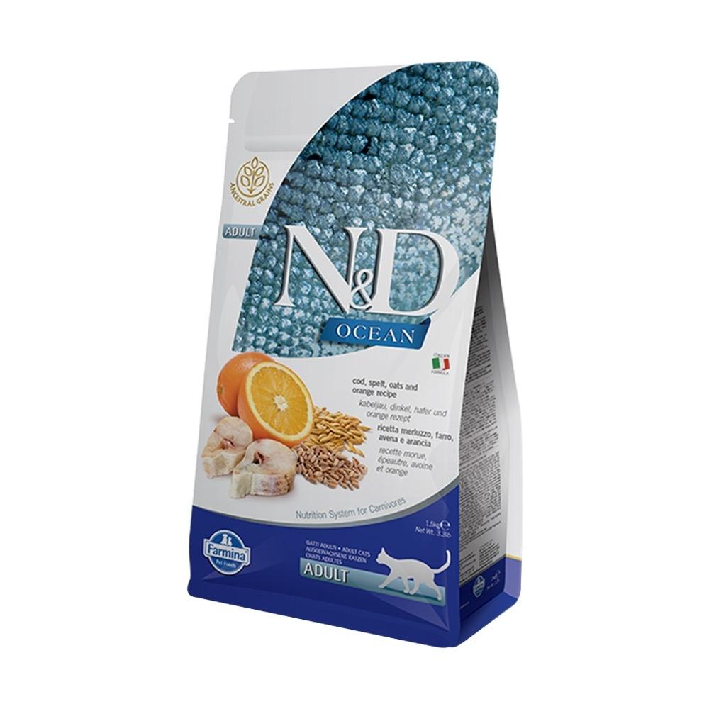 天然海洋系列-全齡貓-低穀鱈魚甜橙 (300g)