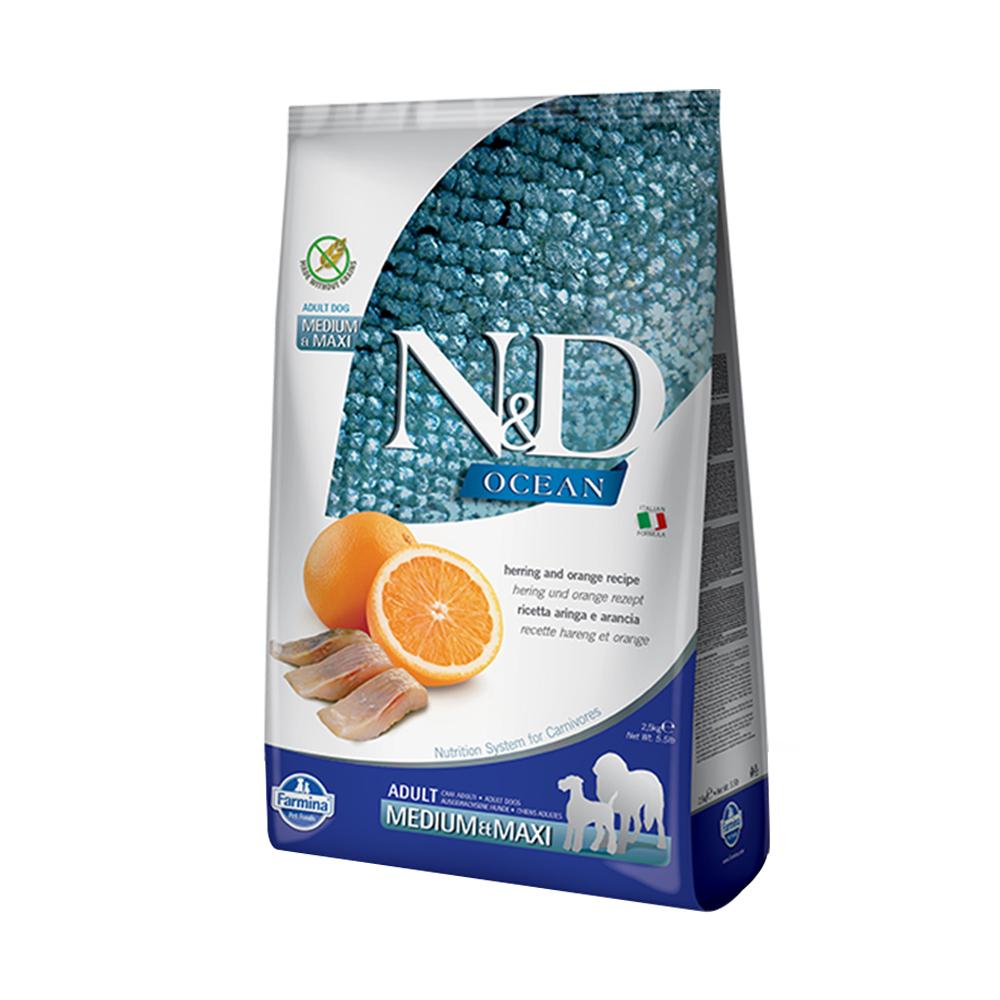 天然海洋系列-全齡犬-頂級無穀鯡魚甜橙-潔牙顆粒 (12kg)