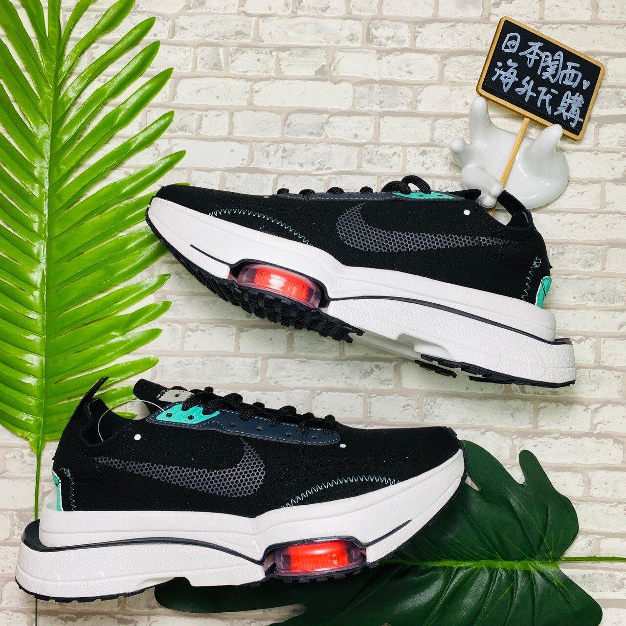【日本海外代購】Nike Air Zoom Type N.354 黑綠 紅 厚底 麂皮 解構 CJ2033-010