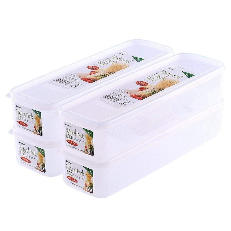 雙11狂歡 日本進口廚房面條收納盒塑料長方形放掛面密