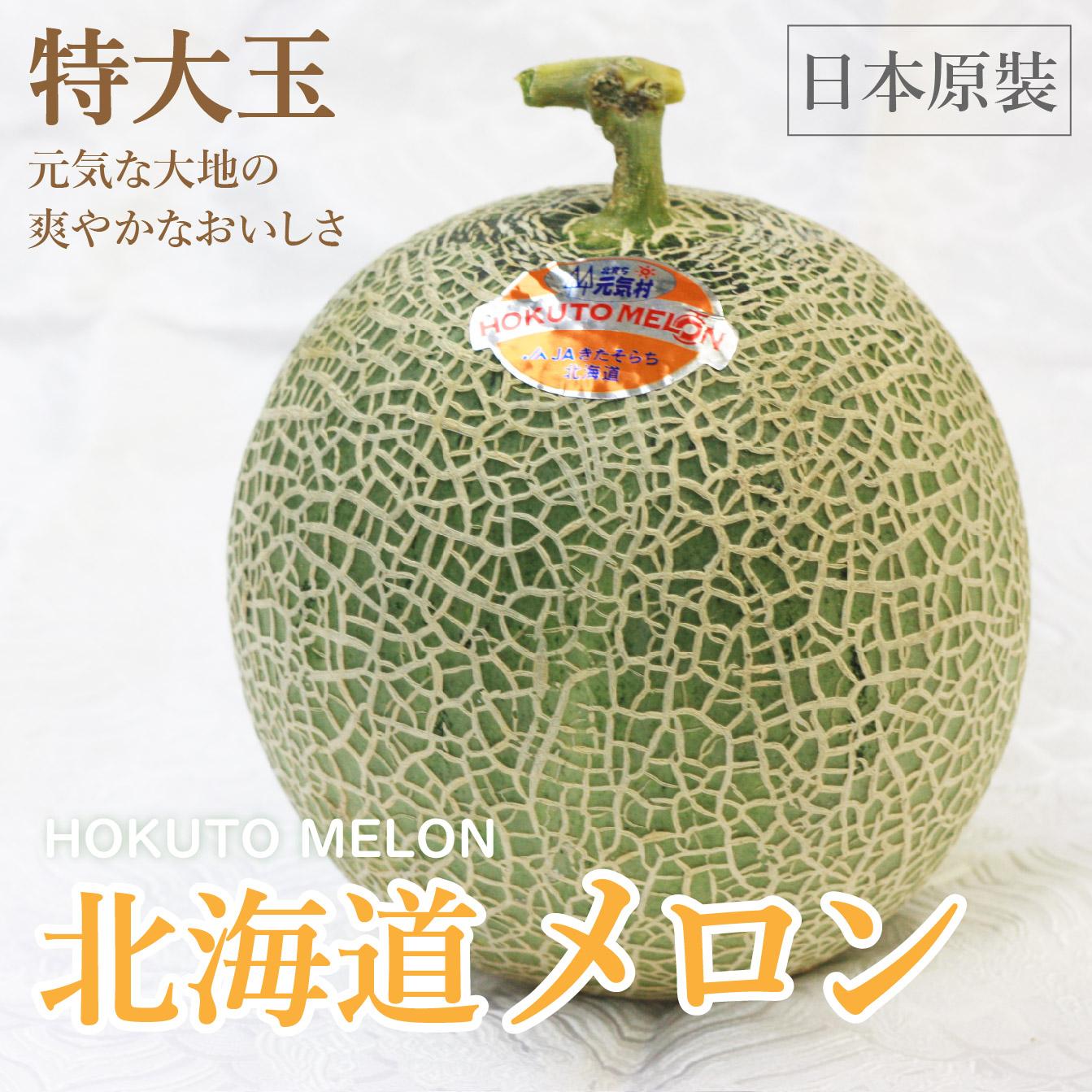 【日本原裝🍈頂級北海道赤肉哈密瓜】2玉禮盒裝